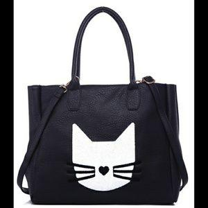 Kitty Tote Bag (large, black)